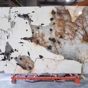 Color photograph of Palamino natural stone slab